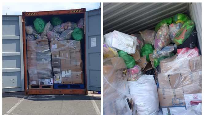 România, groapa de gunoi a Europei? Un nou container cu deșeuri sosit din Marea Britanie, descoperit de Garda de Coastă