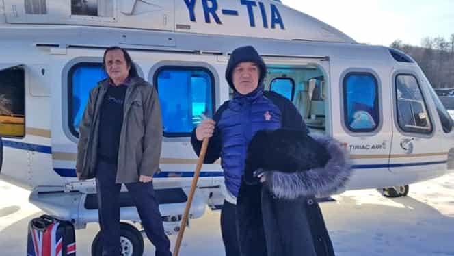 Gigi Becali, cu elicopterul la Mănăstirea Pătrunsa! Ce au făcut oamenii când l-au văzut