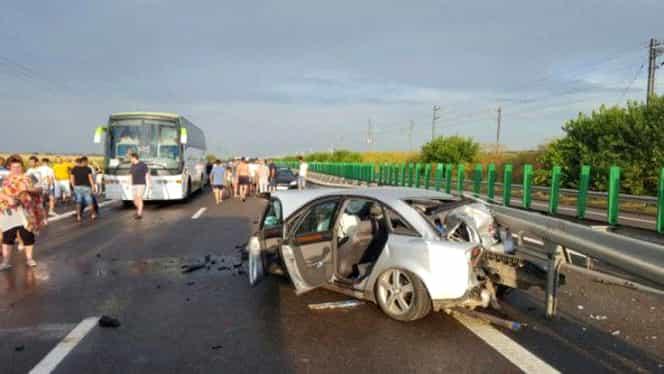 Circulaţie îngreunată pe A2 şi pe DN7 din cauza unor accidente rutiere
