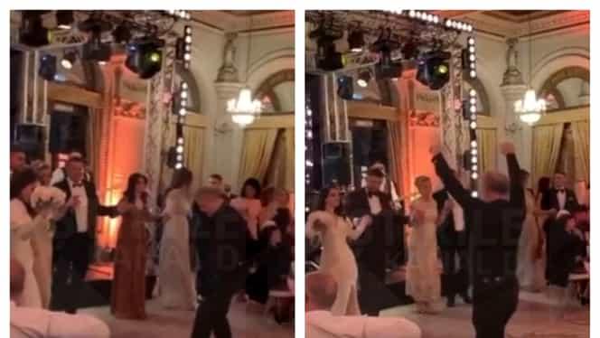 Gigi Becali a rupt ringul de dans la cununia Teodorei cu Mihai Mincu. Foto şi video
