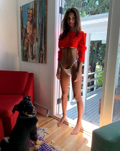 Emily Ratajkowski, femeia cu cel mai frumos bust natural din lume, costum de baie inedit. FOTO