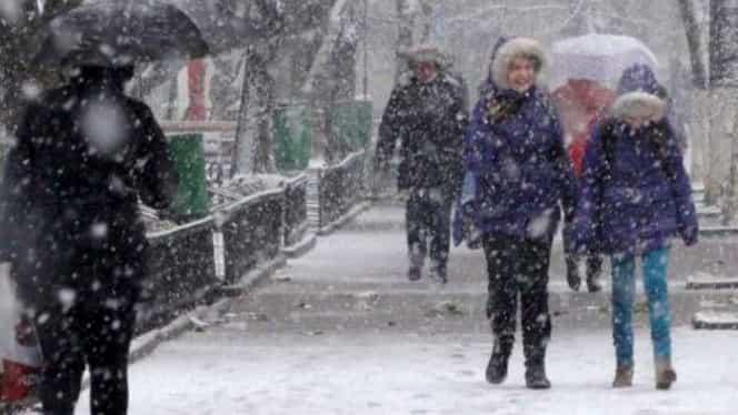 Informare ANM de ultima oră: viscol și ninsori în mai multe județe. Vremea rea se menține până vineri
