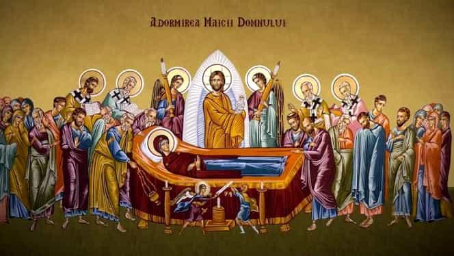 Calendar ortodox, joi, 15 august. Adormirea Maicii Domnului (Sfânta Maria Mare) – Sărbătoare cu cruce roșie