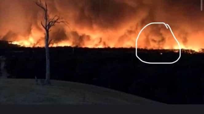 Imaginea sinistră din incendiile din Australia! Oamenii susţin că au văzut faţa diavolului