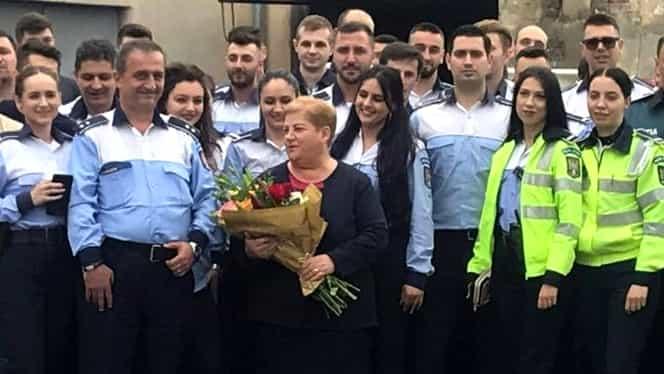 Gestul emoționat făcut pentru doamna Geta, polițista umilită pe Internet pentru aspectul fizic