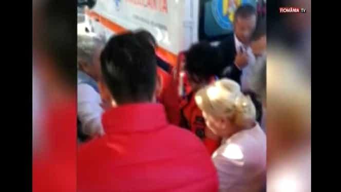 Viorica Dăncilă punctează electoral. A acordat primul ajutor unui bătrân care a leșinat la un miting