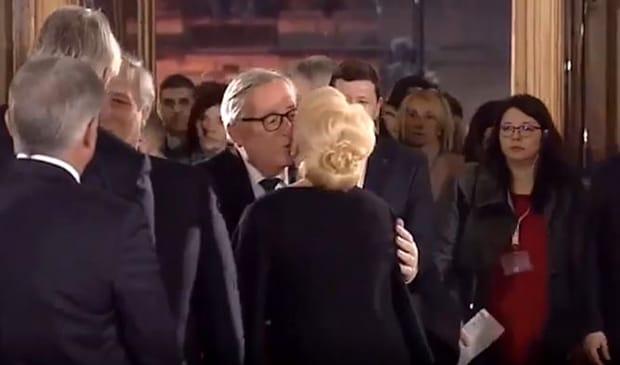 Jean-Claude Juncker, gest reprobabil la adresa Vioricăi Dăncilă