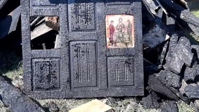 Miracol la Târgul Lăpuș, în plină pandemie de coronavirus! Casa a ars ca o torță, însă icoana a rămas intactă