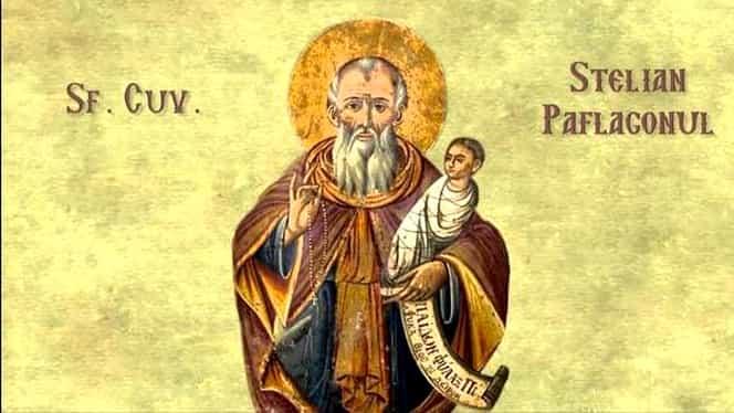Calendar ortodox, marți, 26 noiembrie 2019. Sfântul Stelian, ocrotitorul pruncilor și al mamelor