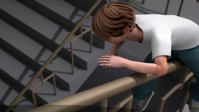 Un băiat de 13 ani a murit după ce a căzut de pe balustrada unei școli în Năsăud. Mulți elevi se joacă așa în pauze!