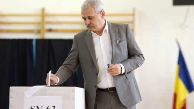 Liviu Dragnea, la vot pentru referendum!