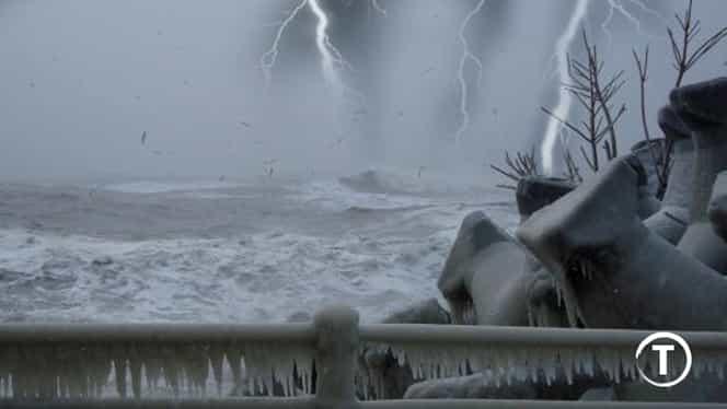 Fenomen meteo extrem de rar, în Constanta