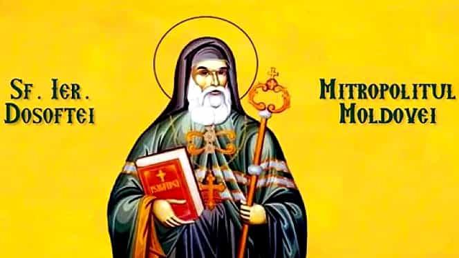Calendar ortodox 13 decembrie. Este prăznuit Sfântul Ierarh Dosoftei, Mitropolitul Moldovei