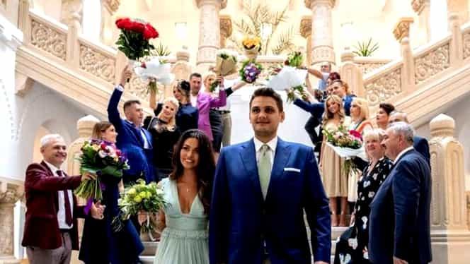 Primele imagini cu Gina Alexandra din ziua nunții! Nora lui Dragnea e superbă