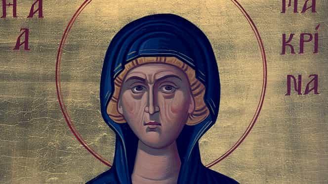 Calendar ortodox, vineri, 19 iulie 2019. Sfânta Macrina, pomenită de Biserică