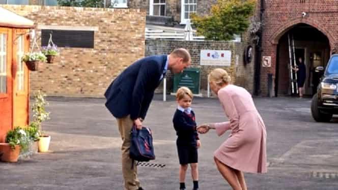 Ducesa de Cambridge a ratat prima zi de şcoală a prinţului George, din cauza sarcinii VIDEO