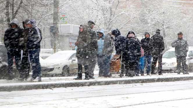 ANM a emis Cod galben de ninsori și viscol în Ajunul Crăciunului, în 21 de județe