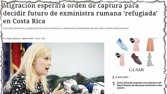 Presa din Costa Rica, despre Elena Udrea. Ar putea fi extrădată?