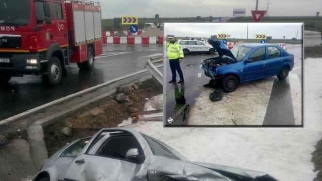 Accident grav cu 5 victime. Au fost implicate maşina Prefecturii Teleorman şi un autovehicul de la Prima TV