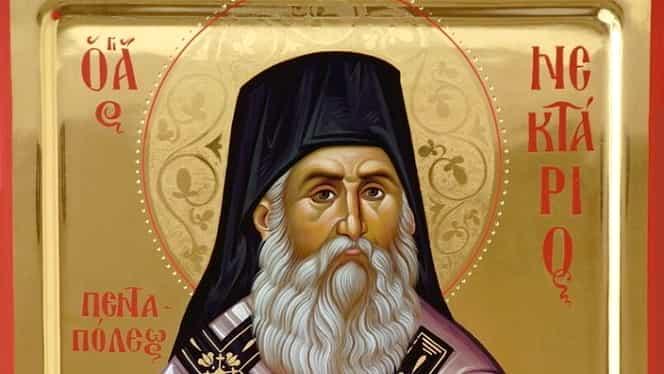 Calendar ortodox, 9 noiembrie: pomenirea sfântului ierarh Nectarie din Eghina