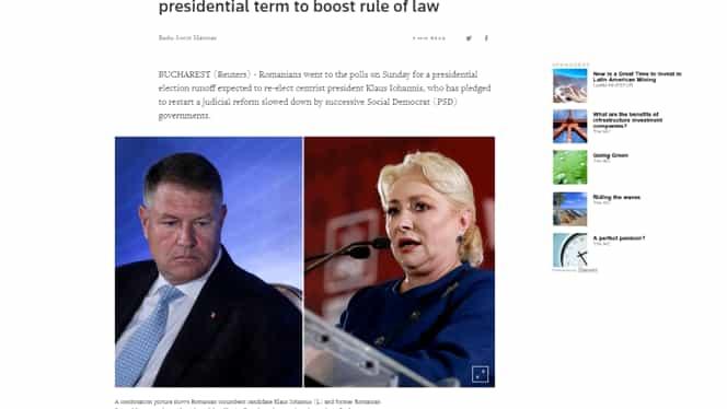 Presa internațională este sigură de victoria lui Klaus Iohannis în turul 2 al alegerilor prezidențiale. Ce au titrat marile publicații din Vest