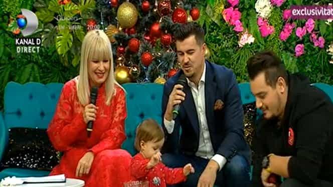 Elena Udrea și familia, apariție de senzație la Teo Show! A venit îmbrăcată la fel ca micuța ei, Eva – Foto