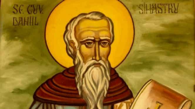 Calendar ortodox, miercuri, 18 decembrie 2019. Biserica îi pomenește pe Daniil Sihastrul și pe Sfântul Sebastian și Zoe, soția lui