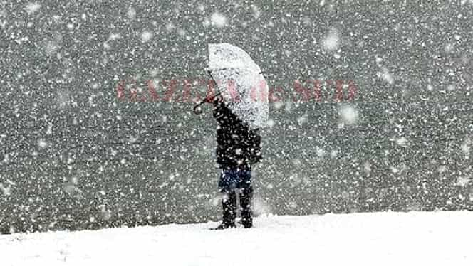 Prognoza meteo 12 ianuarie. Vin ninsorile şi lapoviţa!