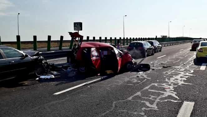 Accident pe Autostrada Soarelui. Mai multe persoane, rănite. Traficul a fost oprit