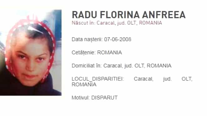 Un nou caz șocant la Caracal. Fată de 11 ani, dispărută fără urmă după ce a plecat să cumpere haine