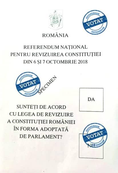 Referendum pentru familie. Cum arată buletinul de vot