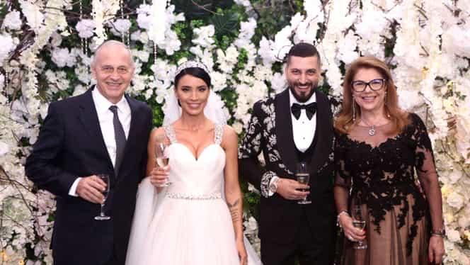 Invitați neașteptați la nunta Adelinei Pestrițu. Mircea Geoană și Mihaela, poză cu mirii