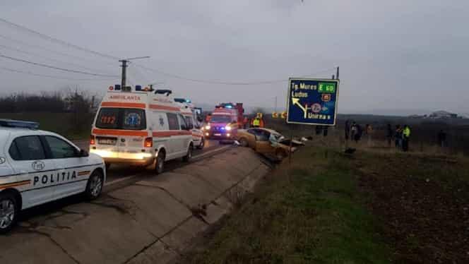 Accident cu doi morți pe DN 15, în județul Cluj, provocat de un șofer care circula pe contrasens