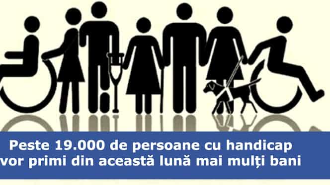 Bugetarii cu handicap grav, spor de 15% la salariu
