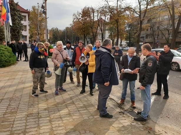 Viorica Dăncilă, contre cu protestatarii la Timișoara! Dăncilă