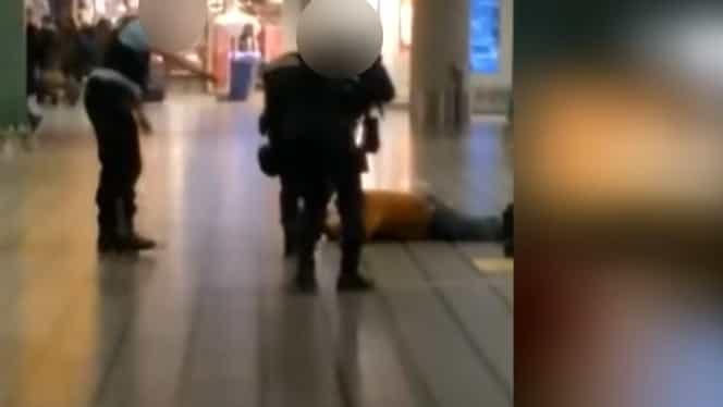VIDEO Un român a amenințat pasagerii de pe Aeroportul din Amsterdam cu un cuțit