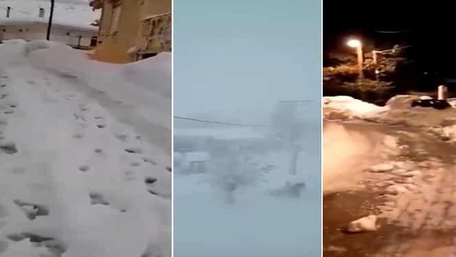 MAE, avertizare de călătorie în Grecia. Partea continentală a țării cât și insulele, lovite de o furtună de zăpadă fără precedent – Video