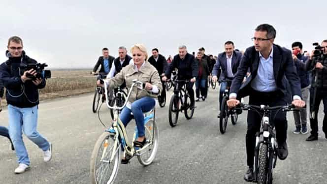Cât costă bicicleta pe care Viorica Dăncilă a folosit-o pe centura Bacăului. Este un model nou de Pegas