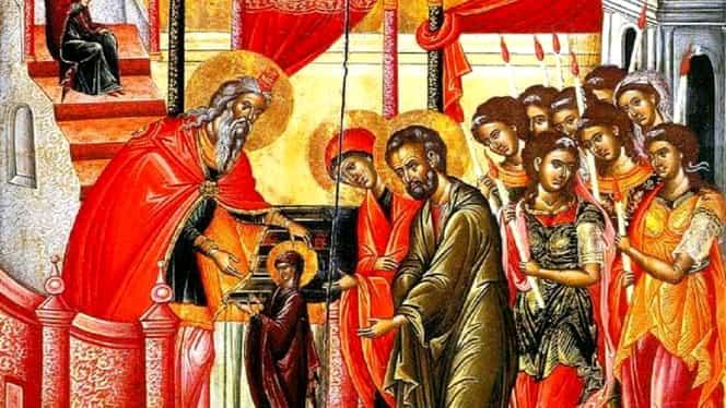 Tradiții și obiceiuri de Intrarea Maicii Domnului în Biserică, sărbătorită pe 21 noiembrie. Se dă dezlegare la pește