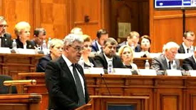 Premierul a prezentat starea economică a ţării, în Parlament! Creşterea economică, peste aşteptări