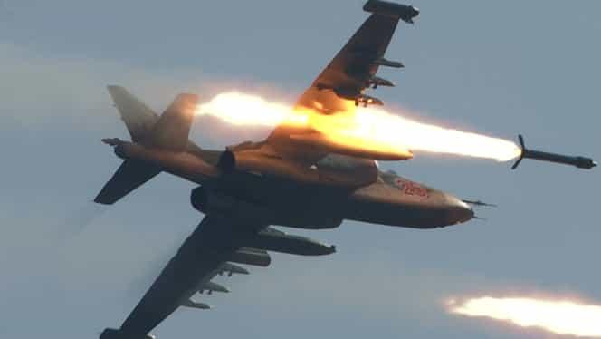 Video. Avion de luptă rusesc, doborât de rebelii din Siria