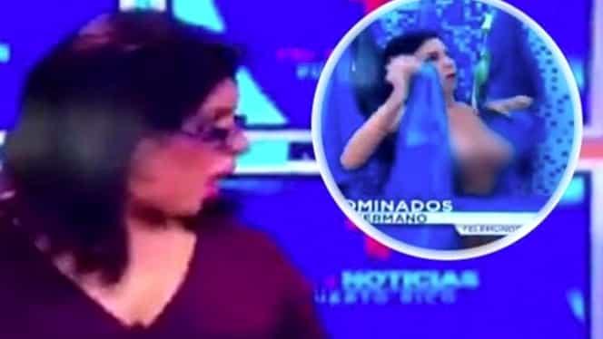 Gafa unei concurente de la Big Brother, în timp ce se afla în direct, la TV. Imaginile cu ea au făcut înconjurul tabloidelor