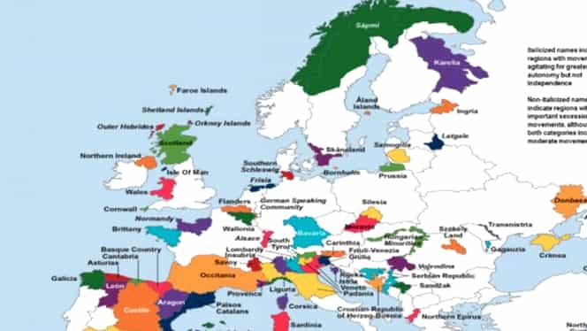 Catalonia nu e singură! Alte regiuni care vor să se desprindă în 2018