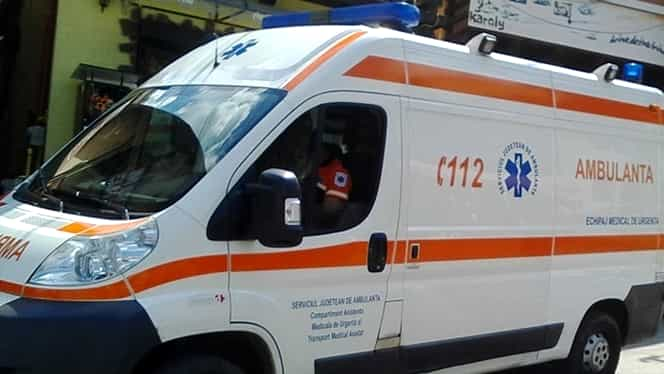 Șofer de ambulanță beat, accident cu mașina instituției