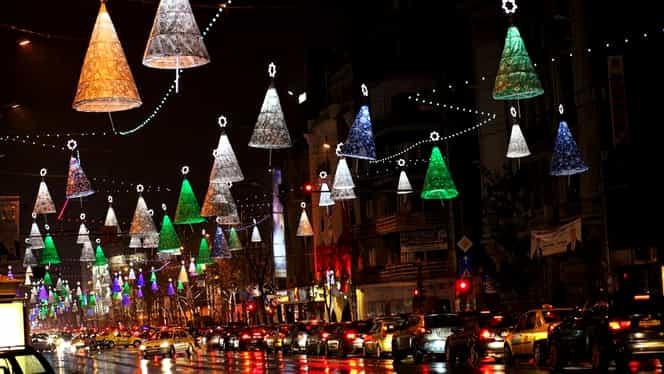 S-au aprins luminiţele în Bucureşti! Vezi FOTO