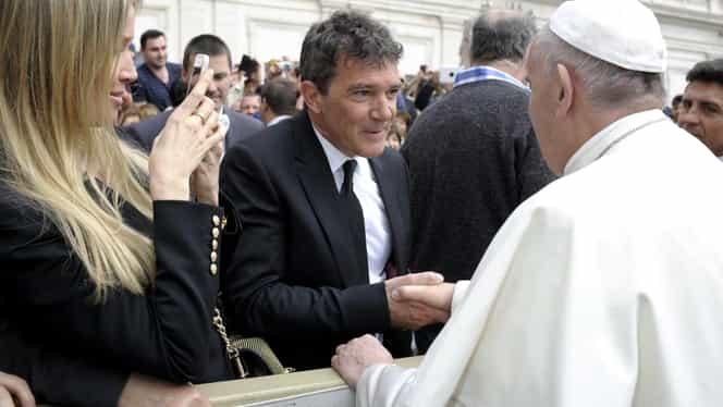 Antonio Banderas, întîlnire emoţionantă cu Papa Francisc