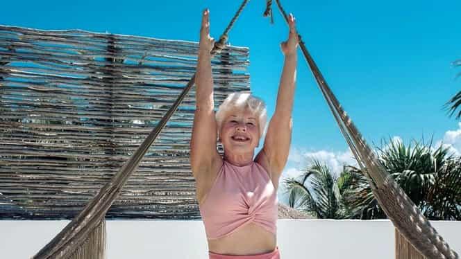 O bunicuță de 73 de ani are brațele și umerii mai dezvoltați decât jumătate din bărbații din România. VIDEO și FOTO