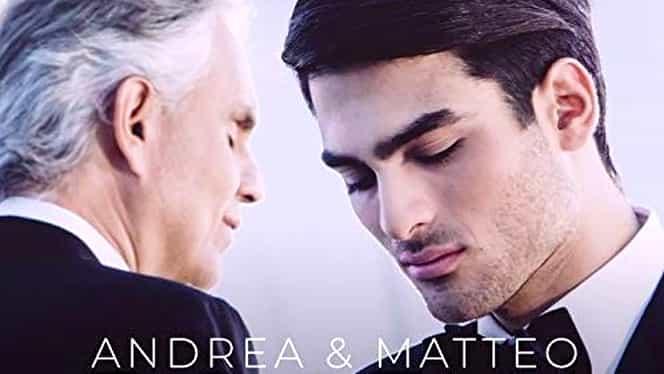 Fiul lui Andrea Bocelli cântă dumnezeiește și e frumos ca un înger. Duet de vis în familie! Video