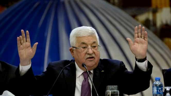 """Palestina a anunţat ruperea tuturor relaţiilor cu SUA şi Israelul. Mahmoud Abbas: """"Israelul să-şi asume responsabilităţile în calitate de putere de ocupaţie"""""""