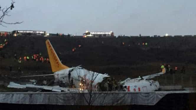 Noi imagini de la accidentul aviatic din Istanbul, unde au murit 3 oameni și au fost răniți alți 179 de pasageri